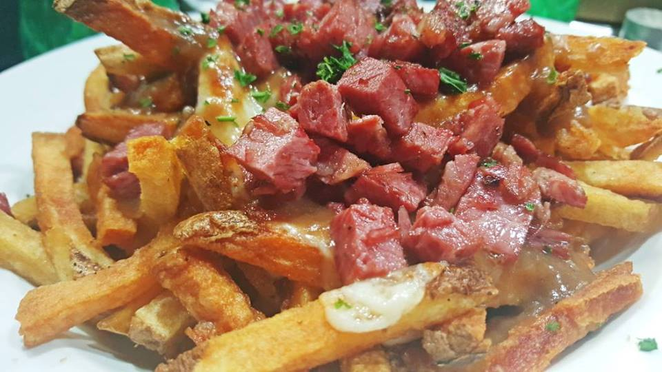 corned beef brisket poutine appetizers